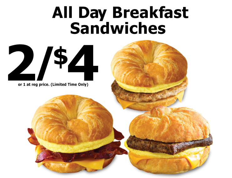 All Day Breakfast Sandwiches