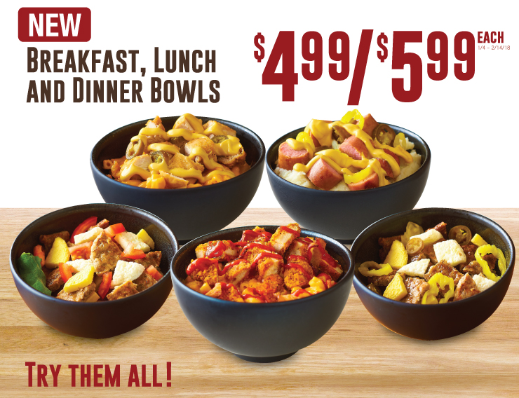 Breakfast Lunch and Dinner Bowls
