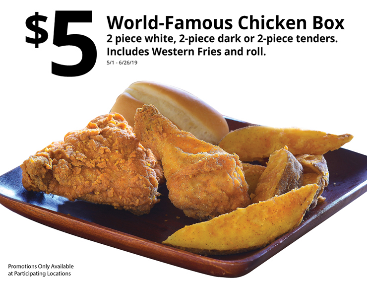 $5 World Famous Chicken Box