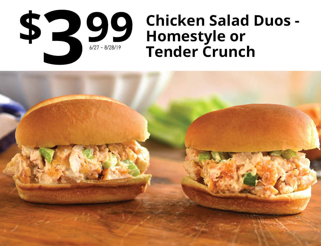 $3.99 Chicken Salad Duos - Homestyle or Tender Crunch