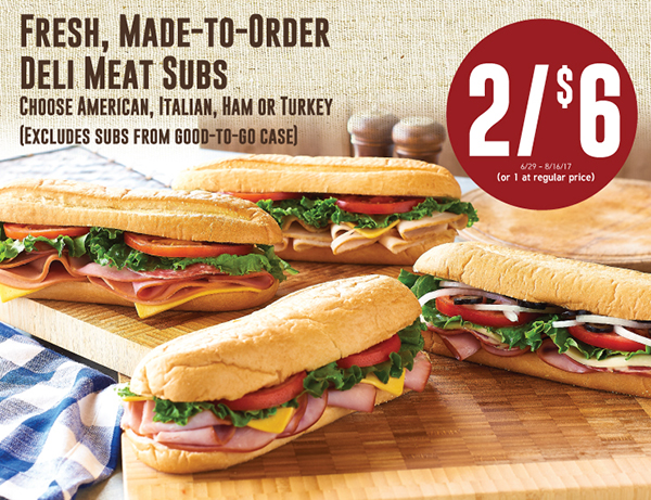Fresh, Made-To-Order Deli Meats Subs