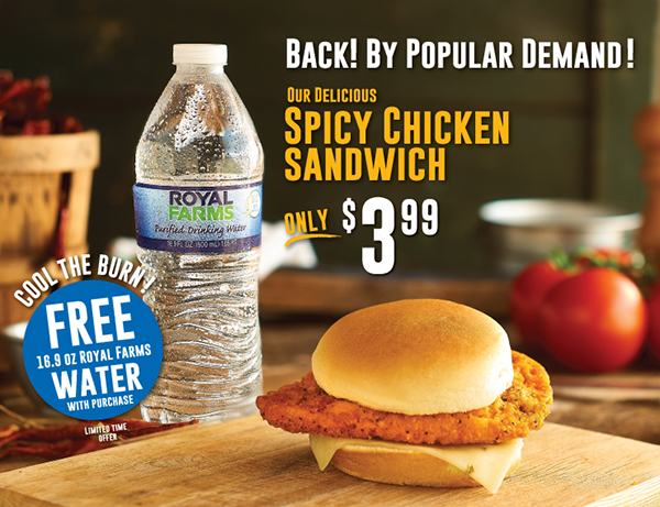 Back! By Popular Demand! Our Delicious Spicy Chicken Sandwich