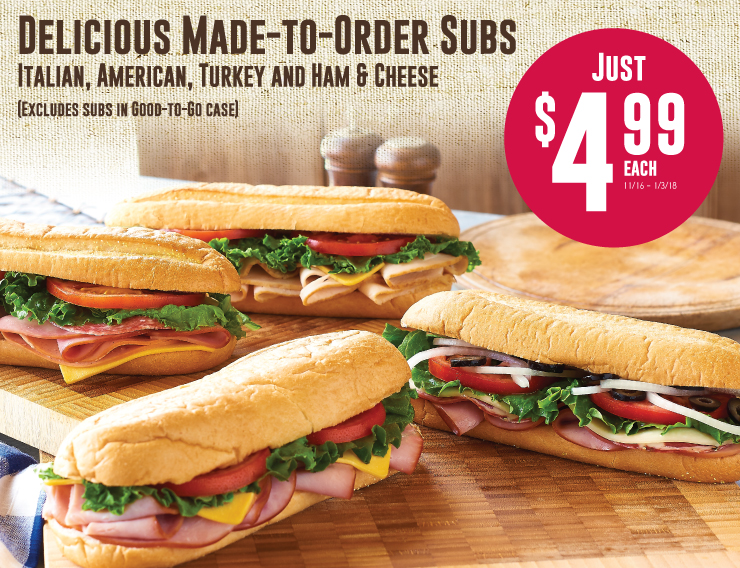 Delicious made to order subs