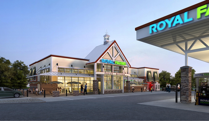 Photo of Royal Farms Site Renderings.